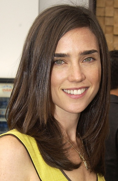 Jennifer Connelly's long dark sleek hair