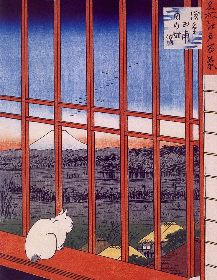 The road connecting Edo (Tokyo) and Kyoto - Hiroshige - WikiPaintings.org