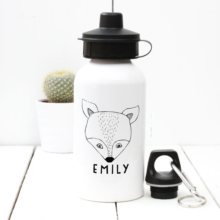 A Piece Of - Personalised 'Fox' Water bottle, £13.50, sport, gym, birthday, child, dad, mum, fathers' day, mothers' day, christening, baby shower, bottle, water, drink, present, party, gift,  (http://www.apieceof.co.uk/personalised-fox-water-bottle/)