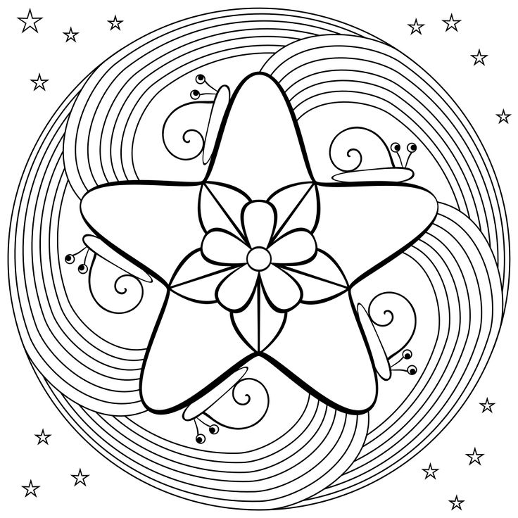 Mandala Coloring Pages | Don't Eat the Paste: Snail mandala coloring page
