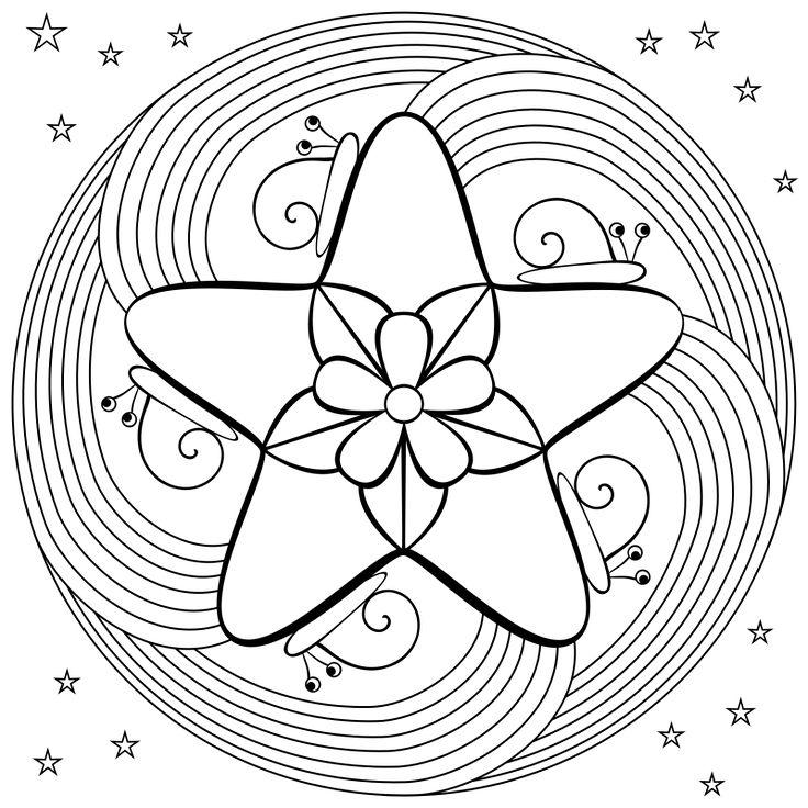 Mandala Coloring Pages | Don't Eat the Paste: Snail mandala coloring page