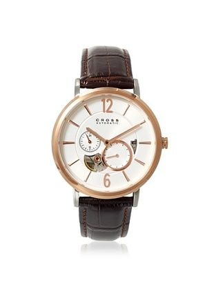 61% OFF Cross Men's CR8016-03 Avant Garde Brown/Silver/Rose Stainless Steel Watch