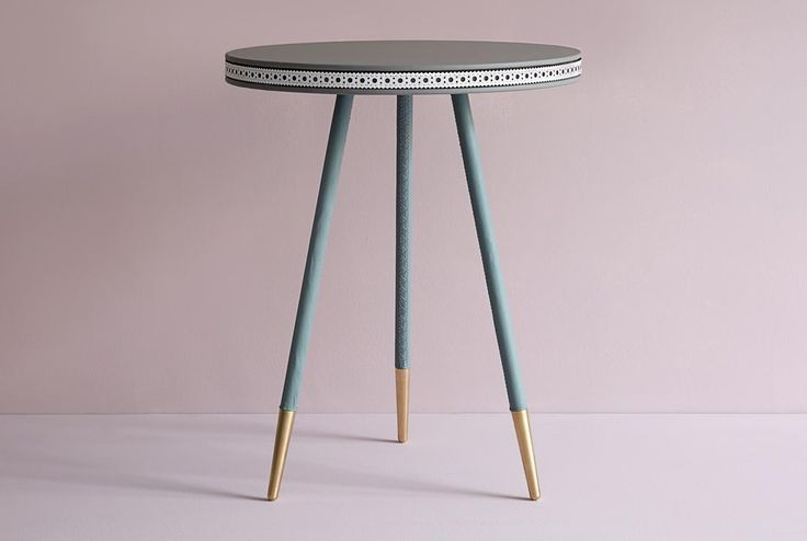 Brogue Leather Side Table from Bethan Gray Collection. Grey, Jade & White, Colour Combinations, Pink palette, Pantone colour of the year 2016, Bethan Gray, Elegant, Pink, Feminine, Bras Feet, Hand Stitched Leather Legs