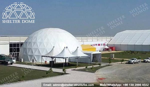 25m White dome tent - Projection dome tent for sale - Steel geodesic domes for events - Spherical dome theater - Portable dome buildings - Dome tents for light shows - Shelter Dome (2)