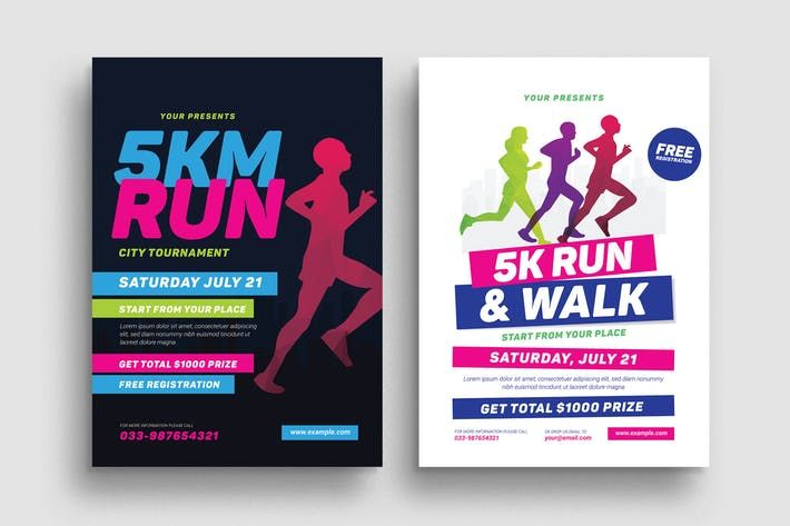 5k Run Event Flyer By Guuver On Envato Elements Event Flyer Fundraiser Flyer Flyer Template