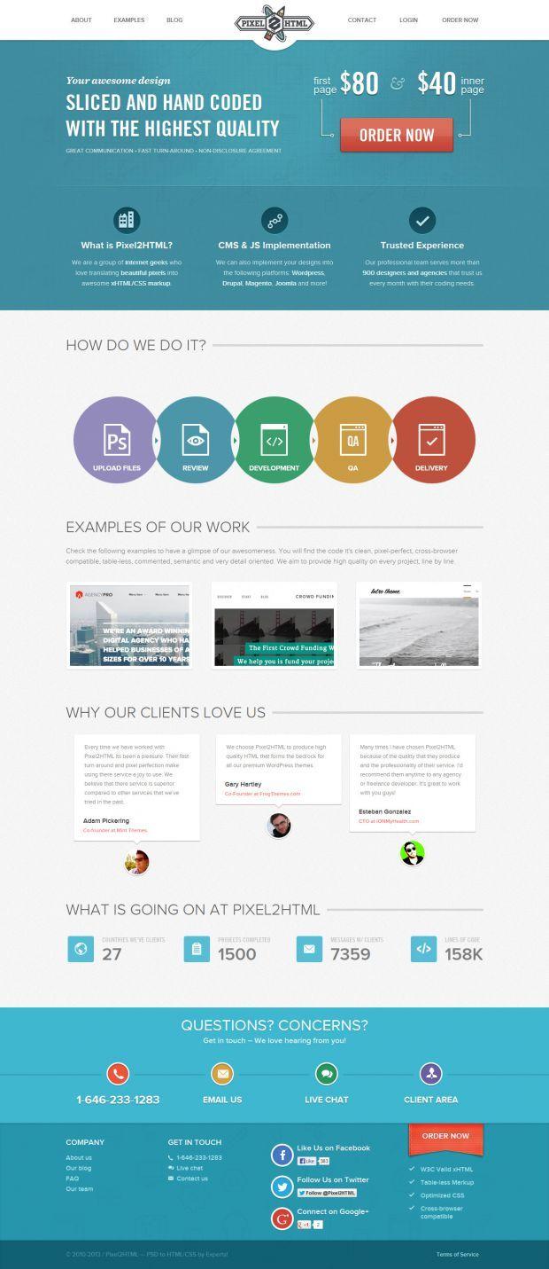 pixel2html psd to html webdesign inspiration wwwniceoneilikecom