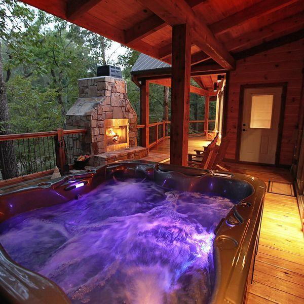 Vacation Cabin In Broken Bow Oklahoma Cabins Broken Bow Cabins Hot Tub