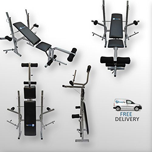 3 Position Height Adjustment Foam Grips and Leg Rollers Flat and Three Backrest Incline Angles