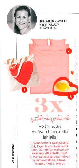 Ystävänpäivänä aamiaismunat ovat tietysti sydämen muotoisia. (Me Naiset 02/2016)  Heirol sydänmuotti: www.heirol.fi
