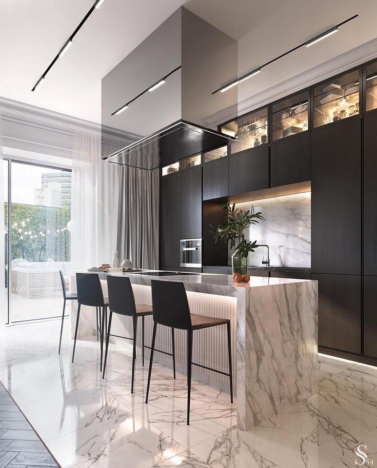 the luxury interior on instagram amazing kitchen designed by studia 54 i love that marble on kitchen interior luxury id=21495