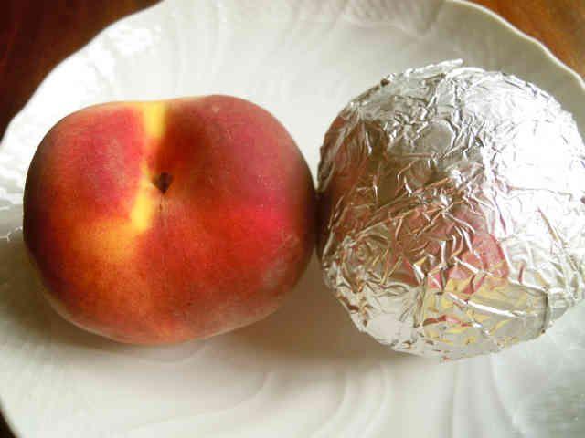 桃農家さん伝授の桃の長期保存方法の画像    冷蔵庫で1ヶ月位は保存できます。作り方 1 アルミホイルで隙間なく桃を一つずつ包んで冷蔵庫で保存するだけ。 2 2015.8.8にクックパッドニュースに掲載されました。ありがとうございます。 コツ・ポイント ふわっと包むのではなく、 空気が入らないように ピチピチにしっかり包んでください。 レシピの生い立ち 福島県の桃農家さんから教えていただきました。 普通なら桃はすぐに傷んでしまうけど、この保存方法だと急いで食べる必要がないのがいいです。 レシピID:2745180