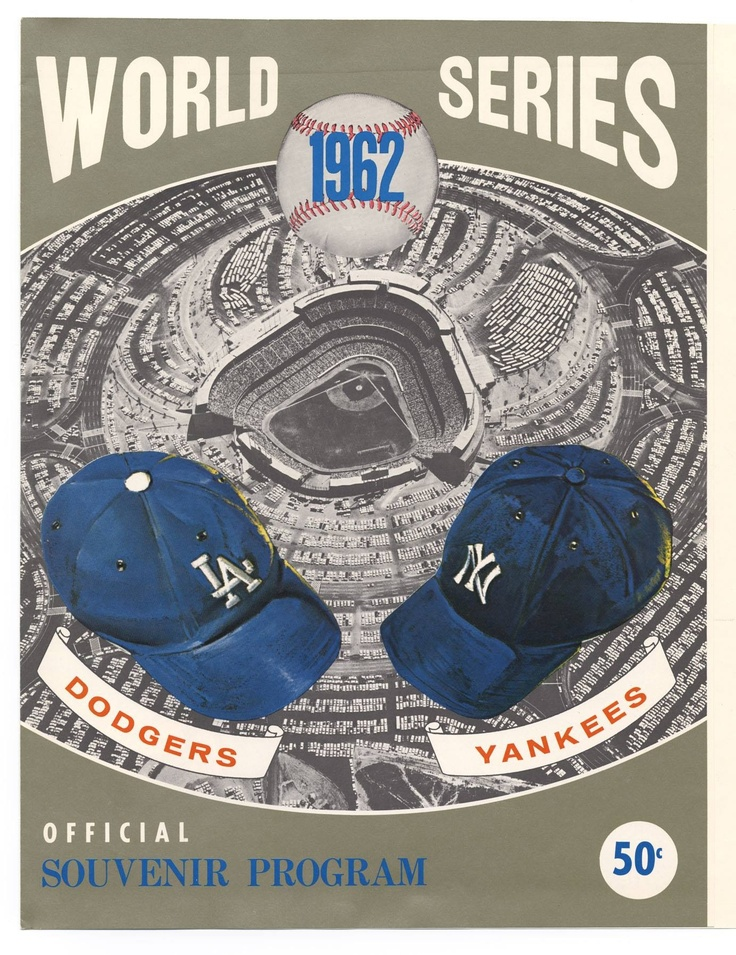 1962 World Series Los Angeles Dodgers vs New York Yankees #Baseball #BaseballArt…
