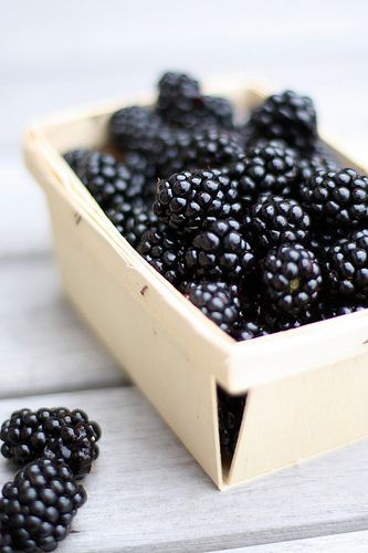 blackberries - great source of dietary fiber, folate, magnesium, potassium, copper, manganese, and vitamins E, C, & K.