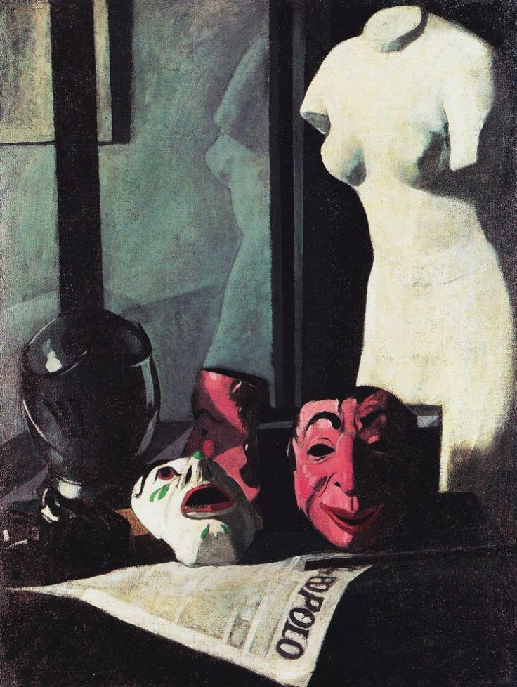 peira:  Felice Casorati: Masks (1921) via Atlante dell'arte italiana