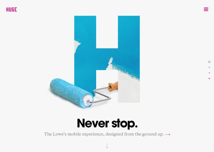 Huge Inc. #webdesign #inspiration #UI