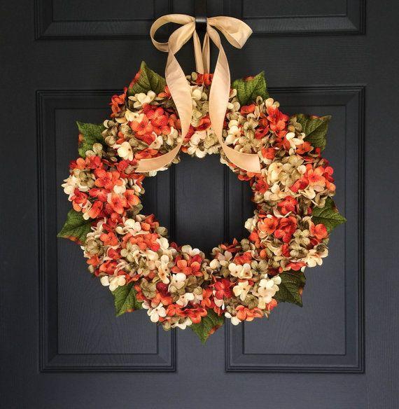WREATHS  Fall Wreath  Front Door Wreaths  by HomeHearthGarden