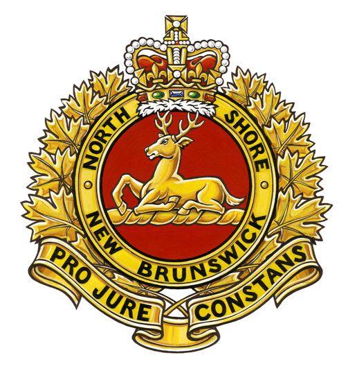 Insigne de The North Shore (New Brunswick) Regiment