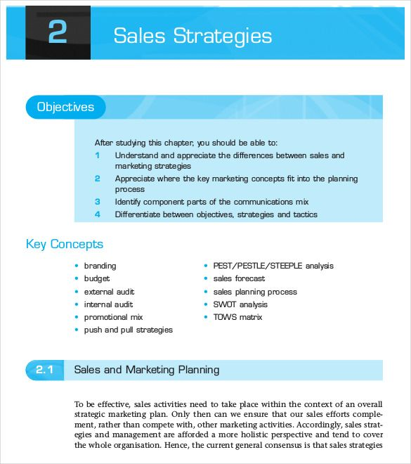 Strategic Marketing Plan Template In 2020 Sales Strategy