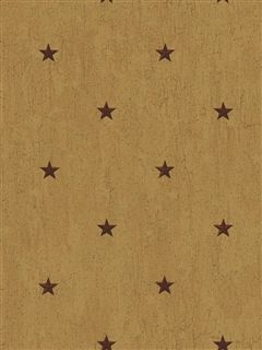 Primitive Country Wallpaper | Tan Maroon CT1946CB Star Berry Vine ...