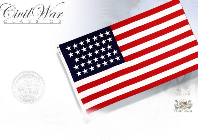 NobleWares Image of Union 34 star Civil War 3'x5' Nylon Flag 310605 by Annin Flagmakers USA