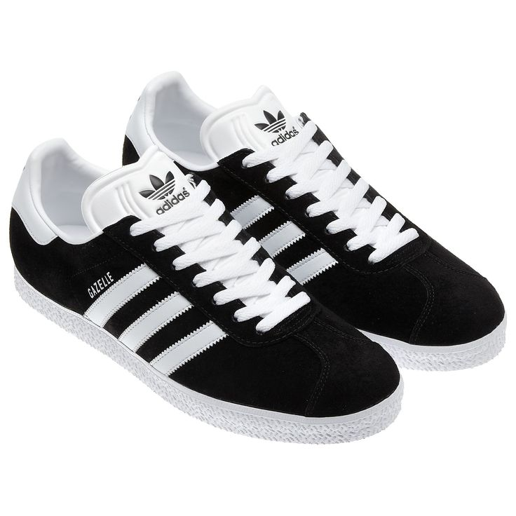 adidas - Gazelle Shoes Black / Running White 032622 | Style | Pinterest | Adidas  gazelle, Adidas and Running