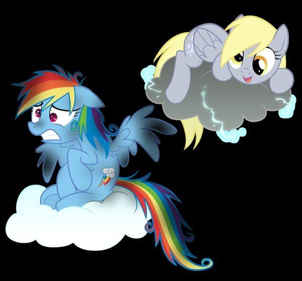 My Little Ponyponies Pony Ponies Rainbow Dash Derpy Hooves Cloud Friendship Is Magic Wallpaper Desktop