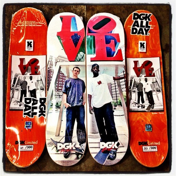 I have these Limited to 300 unit each, Stevie Williams and Josh Kalis Love Park Boards.