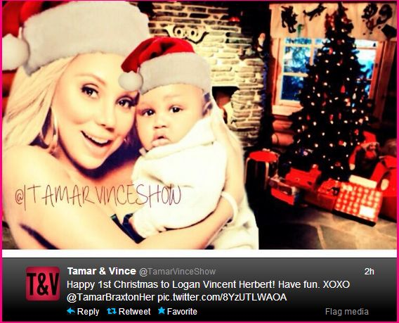 Gossipwelove | Your Celebrity Gossip News and Lifestyle Magazine: Tamar Braxton's Husband Vince Herbert Hospitalized + Baby Logan's 1st Christmas... Too Cute!