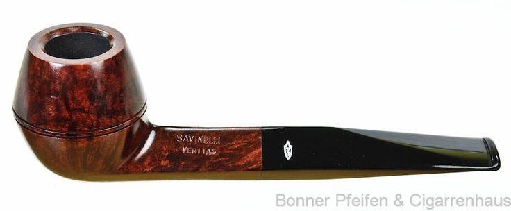 Pfeifen  Savinelli - Veritas - 9mm Filter Gewicht : 49 g Länge : 14,8 cm Höhe : 4,9 cm Breite : 4,1 cm Bohrung : 1,9 cm x 3,8 cm Mundstück : A
