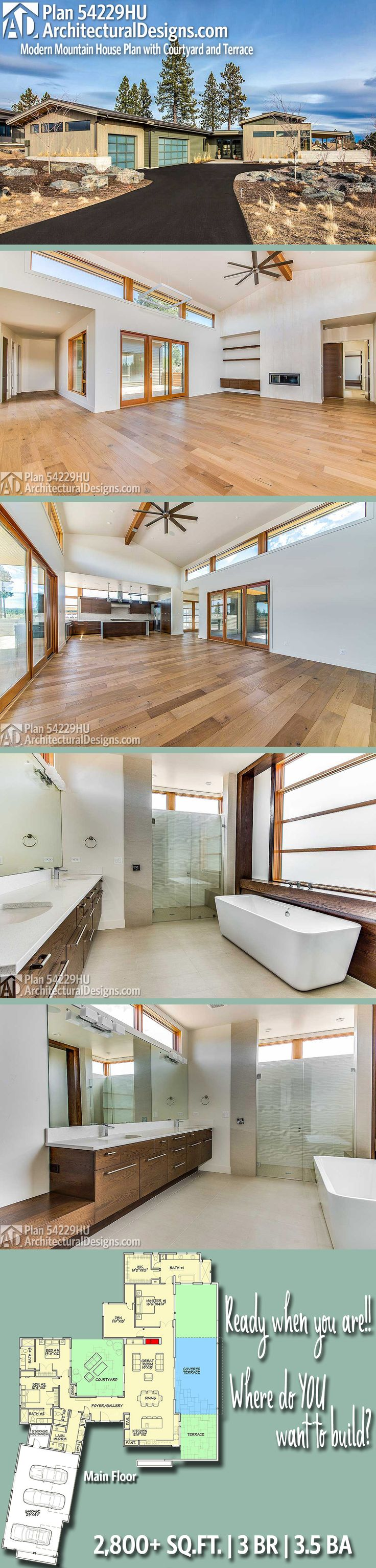 Architectural Designs House Plan 54229HU | 3BR | 3.5BA | 2,800+ Sq.Ft.