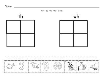 ... Worksheets, Ch Sh Th Wh, Sh Digraph, Verses Sh, Ch Digraphs, Digraph