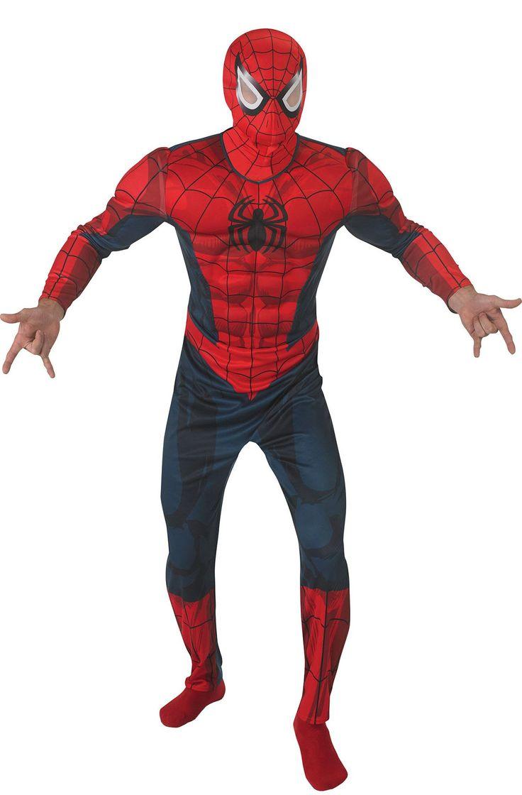 Spiderman Marvel Universe™ Kostüm für Erwachsene: Dieses Spiderman™-Kostüm für Erwachsene steht unter offizieller Lizenz. Es besteht aus einer Kombination und einer Kapuzenmaske (Strümpfe sind nicht im Lieferumfang enthalten). Die...