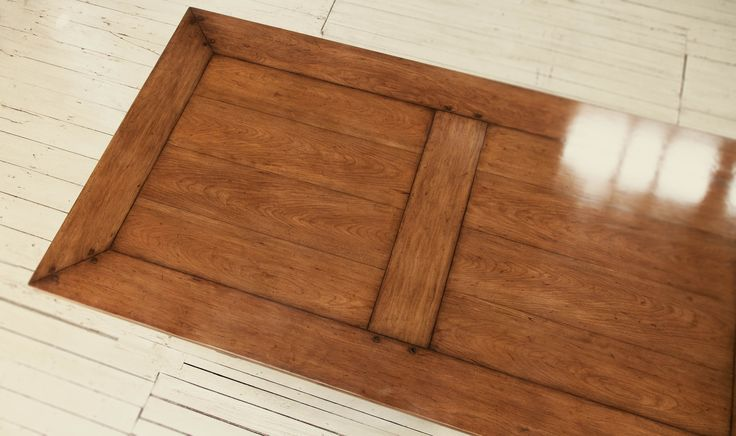Mitred and Panelled top of Cherrywood Dining Table
