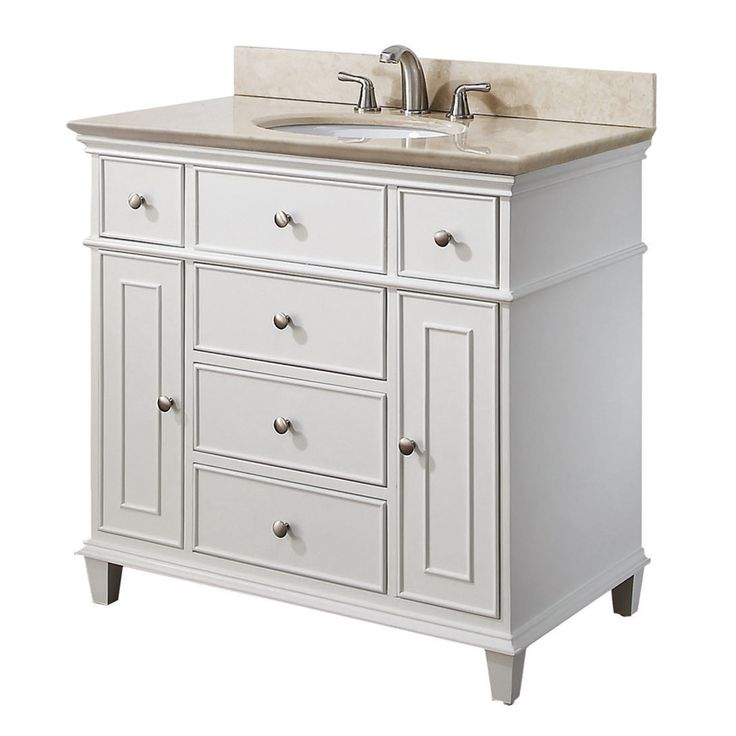 avanity windsor 36 inches bathroom vanity white