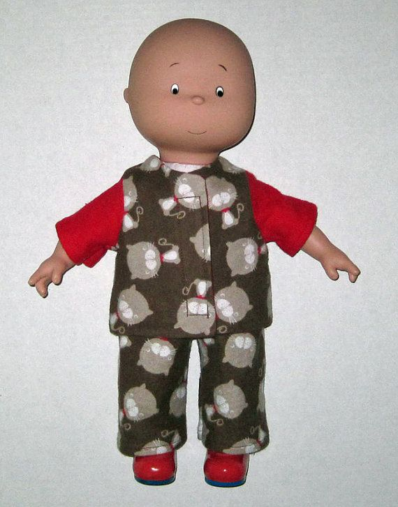 Caillou Classic 14.5 inch Doll Clothes  Cat  by Dakocreations