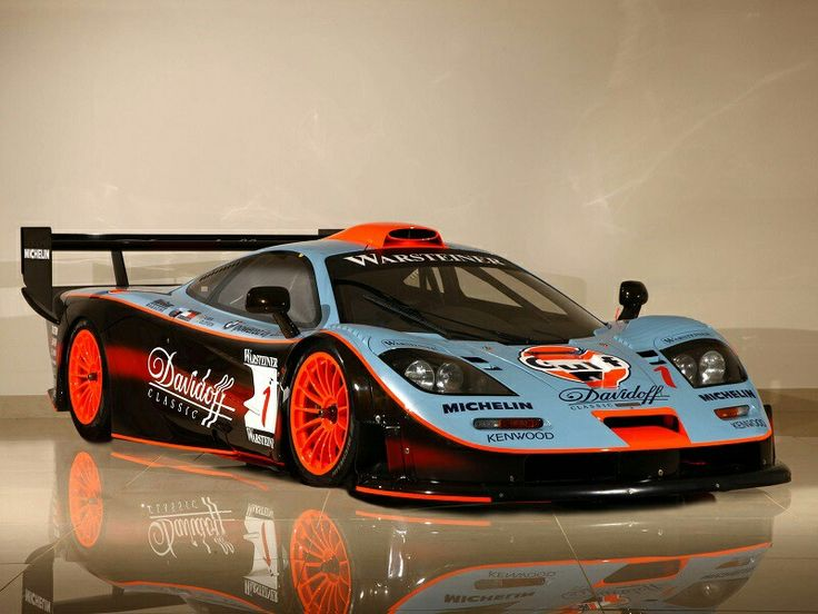 Mclaren F1 GTR long tail  What a crazy expensive rare care There is only 10 in the world ! each one costs 10 million Pounds !! What a car