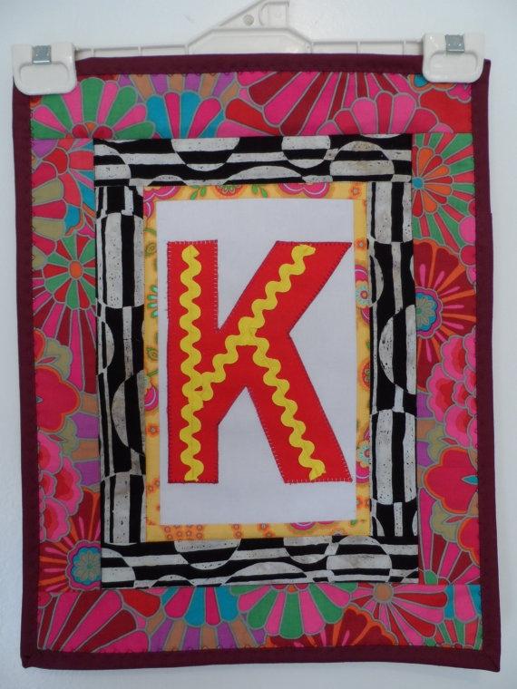 Quilt Applique Alphabet   Quilt Childrens Wall by Fiberartplus, $15.00