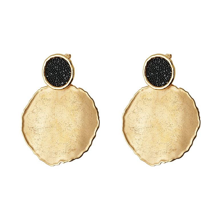 Oxette Earrings Gold plated Silver 925 - Available here: http://www.oxette.gr/kosmimata/skoularikia/earrings-rose-gold-plated-silver-5.6-cm-145l-1/    #oxette #earrings