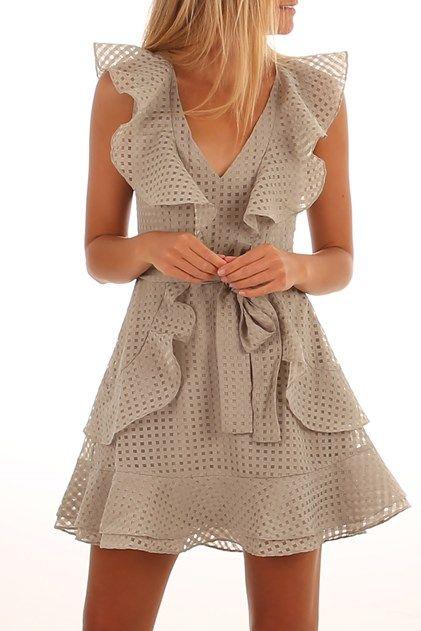 Dina Dress Moss Green