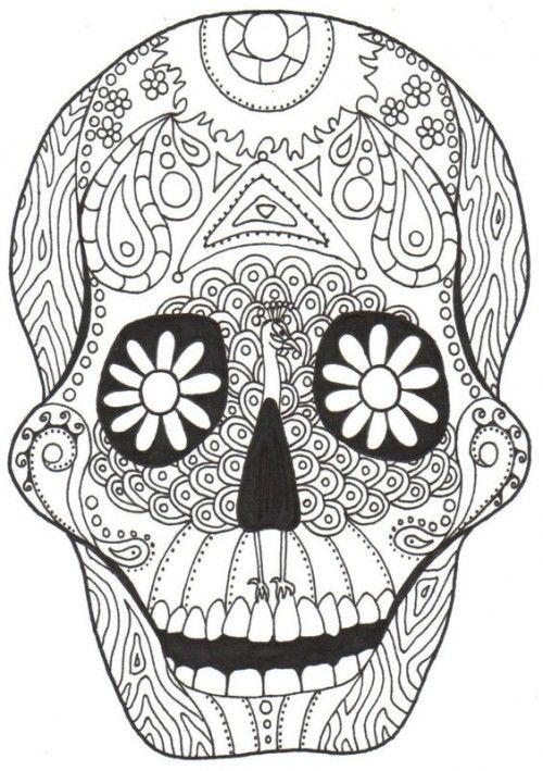 dia de los muertos skull coloring pages coloring pages coloring pages for - Cinco De Mayo Skull Coloring Pages