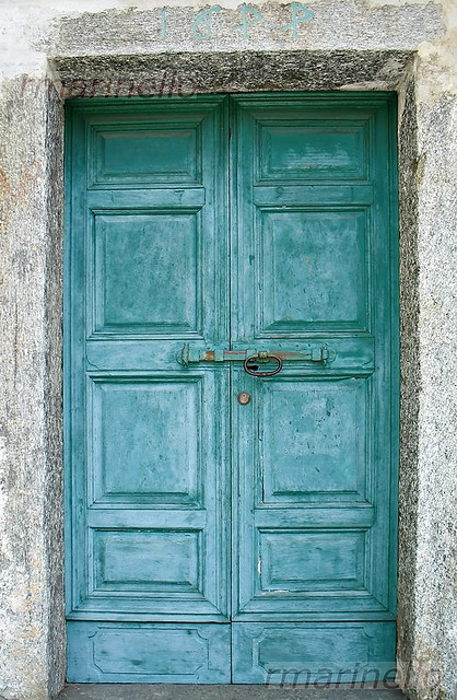 old turquoise door in Italy - I love the color and patina - 110 Best Old Doors Images On Pinterest Entryway, Gate And Portal