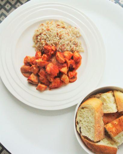 Kipfilet met champignons en pilav, zonder pakjes en zakjes