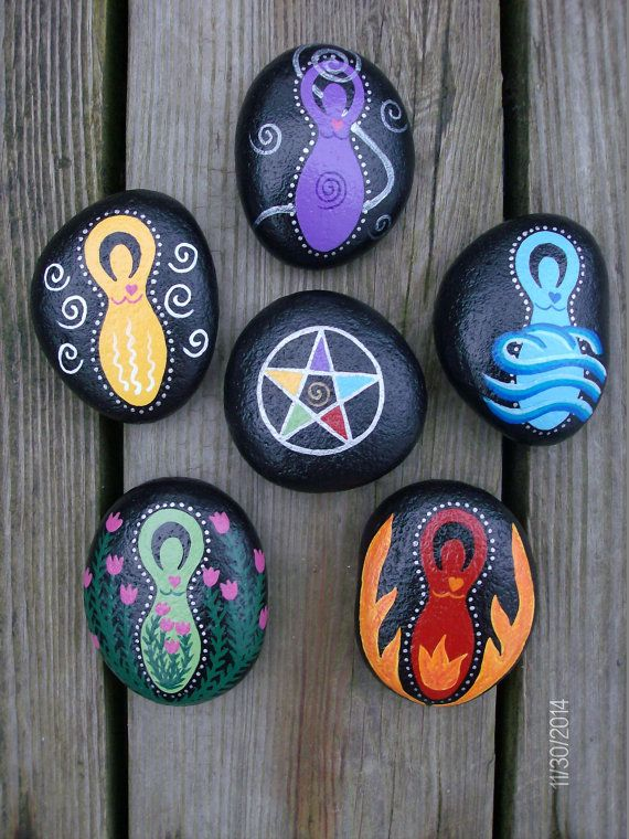Goddess Elemental Stones can be used for your Altar or Ritual. Stones are collected from the Delaware River in Easton, Pennsylvania. I live on