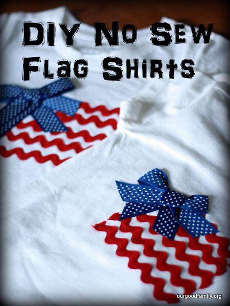 DIY No Sew Flag Shirts