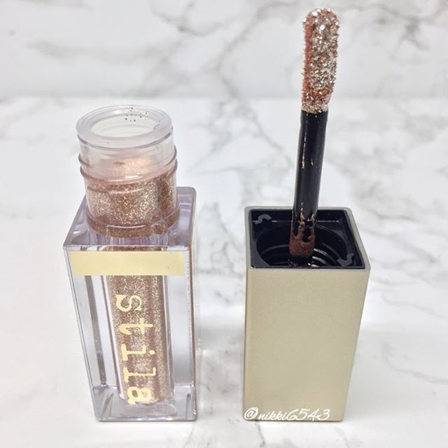Look at this little bottle of wonder  @stilacosmetics Magnificent Metals Glitter & Glow Liquid Eyeshadow in Kitten Karma. If you love glitter one of these is a must...or two or three lol!! ✨ via @nikki6543