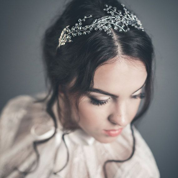 Bridal tiara  Lily of the valley crown  Floral by floraljewellery