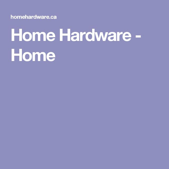 Home Hardware - Home