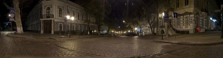 Night panorama at Deribasovskaya
