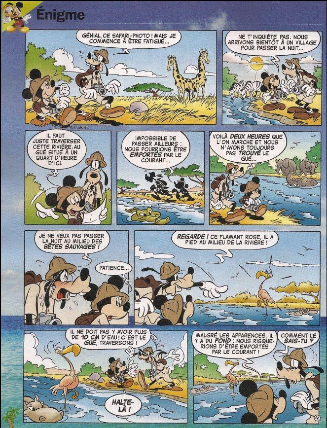 Les BD énigmes de Mickey - sans trop de texte - elles permettent de faire travailler le lecteur sur les déductions et l'implicite