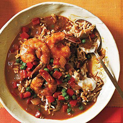 Shrimp Korma and Basmati Rice | Dinner Tonight | a href=http://www.myrecipes.comMyRecipes.com/a